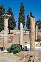 Spanien, Andalusien, Italica bei Sevilla, römische Säulen