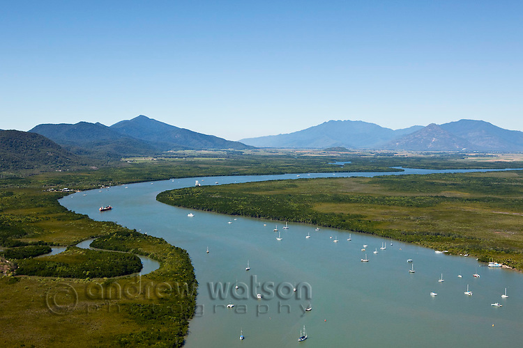 Aerial view of Trinity Inlet.  Cairns, Queensland, Australia