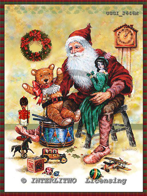 GIORDANO, CHRISTMAS SANTA, SNOWMAN, WEIHNACHTSMÄNNER, SCHNEEMÄNNER, PAPÁ NOEL, MUÑECOS DE NIEVE, nostalgic, paintings+++++,USGI2646M,#X# nostalgic,vintage