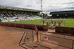 Dundee 0 Greenock Morton 1, 27/08/2011. Dens Park, Scottish League First Division. The view from in front of the main stand during a Scottish League First Division match at Dens Park stadium between Dundee and visitors Greenock Morton. The visitors won by one goal to nil watched by a crowd of 4,096. Dundee  stadium was situated on the same street as their city rival Dundee United, whose Tannadice Park ground was situated a few hundred yards away.