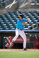 Miami Marlins Kameron Misner (23) at bat during an Instructional League game against the Washington Nationals on September 25, 2019 at Roger Dean Chevrolet Stadium in Jupiter, Florida.  (Mike Janes/Four Seam Images)