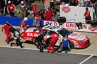 Apr 25, 2009; Talladega, AL, USA; NASCAR Nationwide Series driver D.J. Kennington pits during the Aarons 312 at the Talladega Superspeedway. Mandatory Credit: Mark J. Rebilas-