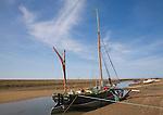 Sailing barge 'Juno' at Blakeney, Norfolk, England