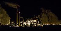 Cholla Power Plant at night. Cholla is a major coal-fired power plant near Joseph City, Arizona along Route 66.
