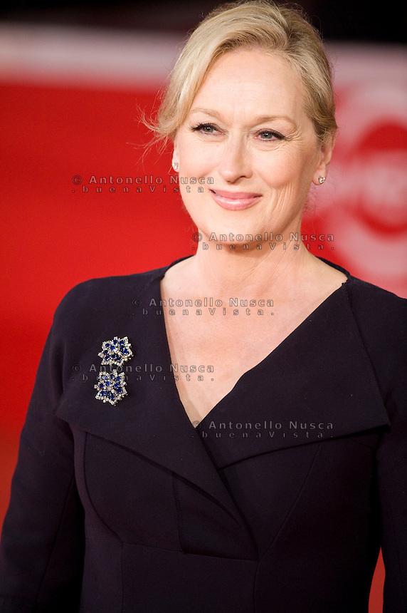 Roma, 22 Ottobre, 2009. L'attrice Maryl Streep al suo arrivo al festival del cinema