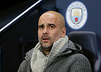 Manchester City manager Josep Guardiola <br /> <br /> Photographer Rich Linley/CameraSport<br /> <br /> UEFA Champions League Round of 16 Second Leg - Manchester City v FC Schalke 04 - Tuesday 12th March 2019 - The Etihad - Manchester<br />  <br /> World Copyright © 2018 CameraSport. All rights reserved. 43 Linden Ave. Countesthorpe. Leicester. England. LE8 5PG - Tel: +44 (0) 116 277 4147 - admin@camerasport.com - www.camerasport.com
