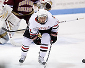 Steve Silva (NU - 17) + Carl Sneep's stick - The Northeastern University Huskies defeated the Boston College Eagles 3-2 on Friday, February 19, 2010, at Matthews Arena in Boston, Massachusetts.