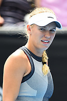 Caroline Wozniacki from Demark during the ASB Classic WTA Women's Tournament Day 7 Singles Final. ASB Tennis Centre, Auckland, New Zealand. Sunday 7 January 2018. ©Copyright Photo: Chris Symes / www.photosport.nz