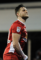 Blackburn Rovers' Craig Conway celebrates scoring his sides equalising goal to make the score 1-1<br /> <br /> Photographer /Ashley WesternCameraSport<br /> <br /> The EFL Sky Bet Championship - Fulham v Blackburn Rovers - Tuesday 14th March 2017 - Craven Cottage - London<br /> <br /> World Copyright &copy; 2017 CameraSport. All rights reserved. 43 Linden Ave. Countesthorpe. Leicester. England. LE8 5PG - Tel: +44 (0) 116 277 4147 - admin@camerasport.com - www.camerasport.com