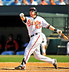 14 March 2009: Baltimore Orioles' infielder Justin Turner in action during a Spring Training game against the Boston Red Sox at Fort Lauderdale Stadium in Fort Lauderdale, Florida. The Orioles defeated the Red Sox 9-8 in the Grapefruit League matchup. Mandatory Photo Credit: Ed Wolfstein Photo