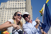 RIO DE JANEIRO, RJ, 15.07.2018 - FRANÇA-CROÁCIA - Torcedores acompanham partida entre França x Croácia na final da Copa do Mundo da Russia na Funfest Arena numero 1 no Boulevard Olímpico centro do Rio de Janeiro neste domingo, 15. (Foto: Clever Felix/Brazil Photo Press)