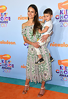 Actress Jordana Brewster &amp; son Julian Form-Brewster at the Nickelodeon 2017 Kids' Choice Awards at the USC's Galen Centre, Los Angeles, USA 11 March  2017<br /> Picture: Paul Smith/Featureflash/SilverHub 0208 004 5359 sales@silverhubmedia.com