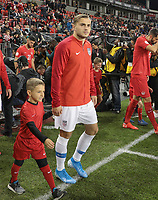 TORONTO, ON - OCTOBER 15: Jordan Morris #11 of the United States walking out during a game between Canada and USMNT at BMO Field on October 15, 2019 in Toronto, Canada.