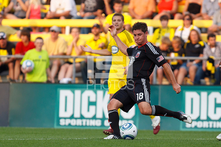 26 JUNE 2010:  Devon McTavish #18 of DC United during MLS soccer game between DC United vs Columbus Crew at Crew Stadium in Columbus, Ohio on May 29, 2010. The Crew defeated DC United 2-0.