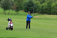 Kathleen Hession (Mount Juliet) on the 1st fairway during the Final round of the Irish Mixed Foursomes Leinster Final at Millicent Golf Club, Clane, Co. Kildare. 06/08/2017<br /> Picture: Golffile | Thos Caffrey<br /> <br /> <br /> All photo usage must carry mandatory copyright credit      (&copy; Golffile | Thos Caffrey)