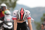 Tadej Pogacar (SLO) UAE Team Emirates crosses the finish line in 7th place at the end of Stage 7 of La Vuelta 2019 running 183.2km from Onda to Mas de la Costa, Spain. 30th August 2019.<br /> Picture: Colin Flockton | Cyclefile<br /> <br /> All photos usage must carry mandatory copyright credit (© Cyclefile | Colin Flockton)