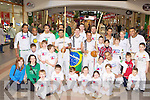 Martial Arts enthusiasts who gave an exhibition of the Brazilian fight Capoeira in the Killarney Outlet Centre on Sunday
