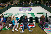 Fans gathering on Henman Hill<br /> <br /> Photographer Ashley Western/CameraSport<br /> <br /> Wimbledon Lawn Tennis Championships - Day 9 - Wednesday 12th July 2017 -  All England Lawn Tennis and Croquet Club - Wimbledon - London - England<br /> <br /> World Copyright &not;&copy; 2017 CameraSport. All rights reserved. 43 Linden Ave. Countesthorpe. Leicester. England. LE8 5PG - Tel: +44 (0) 116 277 4147 - admin@camerasport.com - www.camerasport.com
