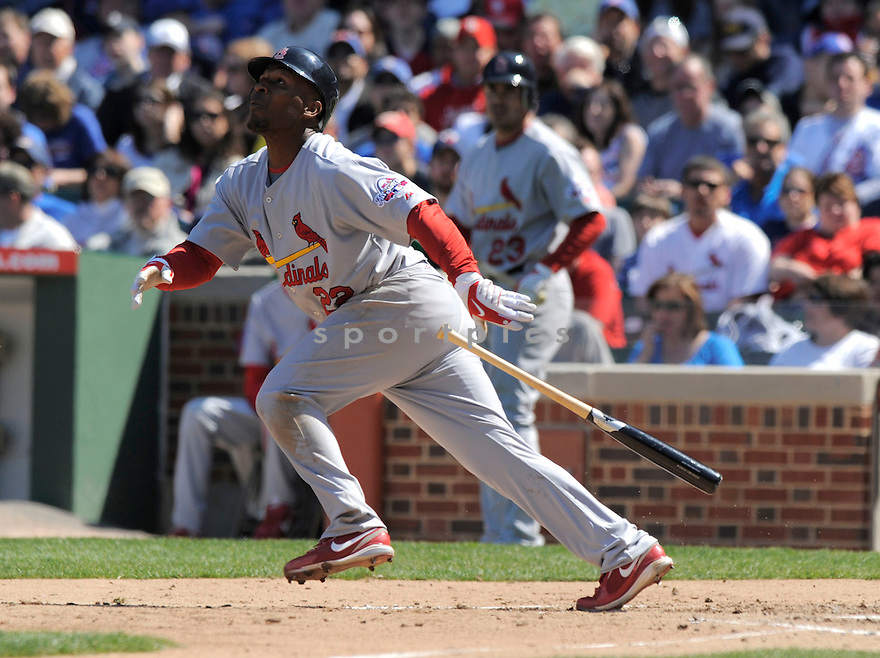 JOE THURSTON, of the St. Louis Cardinals  , in action  during the Cardinals  game against the Chicago Cubs  on April 17, 2009 in Chicago, IL.  The Cubs beat  the Cardinals  7-5  in Chicago,