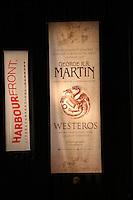 Werbebanner zur Lesung von Autor George R. R. Martin  - Lesung George R.R. Martin im CCH Hamburg