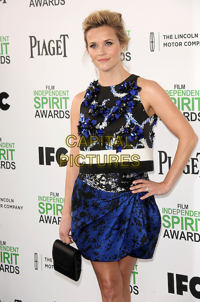 SANTA MONICA, CA - March 01: Reese Witherspoon at the 2014 Film Independent Spirit Awards Arrivals, Santa Monica Beach, Santa Monica,  March 01, 2014. Credit: Janice Ogata/MediaPunch<br /> CAP/MPI/JO<br /> &copy;JO/MPI/Capital Pictures