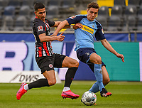 Andre Silva (Eintracht Frankfurt), Florian Neuhaus (Borussia Moenchengladbach) - 16.05.2020, Fussball 1.Bundesliga, 26.Spieltag, Eintracht Frankfurt  - Borussia Moenchengladbach emspor, v.l. Stadionansicht / Ansicht / Arena / Stadion / Innenraum / Innen / Innenansicht / Videowall<br /> <br /> <br /> Foto: Jan Huebner/Pool VIA Marc Schüler/Sportpics.de<br /> <br /> Nur für journalistische Zwecke. Only for editorial use. (DFL/DFB REGULATIONS PROHIBIT ANY USE OF PHOTOGRAPHS as IMAGE SEQUENCES and/or QUASI-VIDEO)
