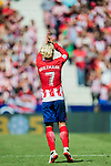 Antoine Griezmann (r) of Atletico de Madrid celebrates during the La Liga 2017-18 match between Atletico de Madrid and Sevilla FC at the Wanda Metropolitano on 23 September 2017 in Madrid, Spain. Photo by Diego Gonzalez / Power Sport Images