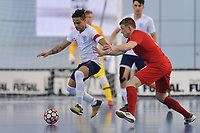Raoni Medina of England and Tomasz Lutecki of Poland during England vs Poland, International Futsal Friendly at St George's Park on 2nd June 2018