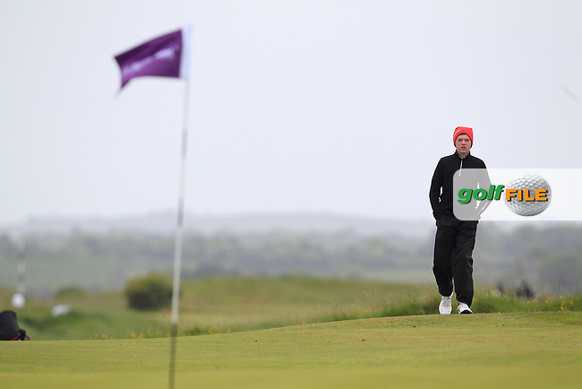 Shane McDermott (Co. Cavan) on the 1st green during Round 2 of the East of Ireland Amateur Open Championship at Co. Louth Golf Club, Baltray on Sunday 30th May 2015.<br /> Picture:  Thos Caffrey / www.golffile.ie