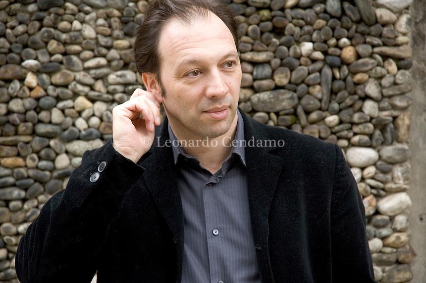 Milan, Italy, 2006. Wolfram Fleischhauer, German novelist.