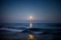 Moonset. Hawaii, The Big Island.