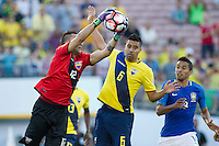 actionn photo during the match Brazil vs Ecuador, Corresponding Group -B- America Cup Centenary 2016, at Rose Bowl Stadium<br /> <br /> Foto de accion durante el partido Brasil vs Ecuador, Correspondiante al Grupo -B-  de la Copa America Centenario USA 2016 en el Estadio Rose Bowl, en la foto: (i-d) Esteban Dreer y Christian Noboa de Ecuador<br /> <br /> <br /> 04/06/2016/MEXSPORT/Victor Posadas.