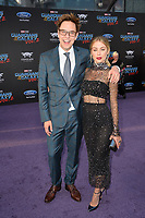 James Gunn &amp; Jennifer Holland at the world premiere for &quot;Guardians of the Galaxy Vol. 2&quot; at the Dolby Theatre, Hollywood. <br /> Los Angeles, USA 19 April  2017<br /> Picture: Paul Smith/Featureflash/SilverHub 0208 004 5359 sales@silverhubmedia.com