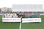(L-R) Urawa Reds team group,  NTV Beleza team group, MARCH 27, 2016 - Football /Soccer : Plenus Nadeshiko League 2016 between Urawa Reds Ladies 1-1 NTV Beleza at Nishigaoka Stadium in Tokyo, Japan. (Photo by Sho Tamura/AFLO SPORT)