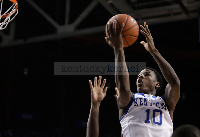 UK freshman guard lays the ball up against LIU at Rupp Arena on Friday, Nov. 23, 2012. Photo by Scott Hannigan | Staff