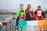 The crew of the Avocet at the start of their round the world trip which will take approximately 16 months, pictured here front l-r; Donnacha Desmond(1st Mate), Derry Ryder(Skipper), back l-r; Cian Deasy, John O'Shea, Margaret Ryder & Brian O'Grady.