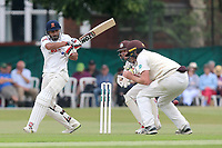 Ravi Bopara hits out for Essex during Surrey CCC vs Essex CCC, Specsavers County Championship Division 1 Cricket at Guildford CC, The Sports Ground on 10th June 2017