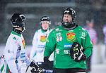 Uppsala 2014-01-12 Bandy  IK Sirius - GAIS Bandy :  <br />  GAIS Jesper Thimfors &auml;r glad efter matchen tillsammans med GAIS Joel Pettersson <br /> (Foto: Kenta J&ouml;nsson) Nyckelord:  glad gl&auml;dje lycka leende ler le jubel gl&auml;dje lycka glad happy