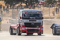 Hungarian driver Norbert Kiss belonging German team Tankpool 24 Racing  during the fist race R1 of the XXX Spain GP Camion of the FIA European Truck Racing Championship 2016 in Madrid. October 01, 2016. (ALTERPHOTOS/Rodrigo Jimenez) /NortePHOTO /NORTEPHOTO.COM