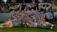 20190430 - OOSTAKKER , BELGIUM : Anderlecht's players and staff pictured celebrating after winning the Superleague Championship after a womensoccer game between  AA Gent Ladies and RSC Anderlecht Dames  , during play-off 1 in the Belgian Women's Superleague, at the PGB Stadium in Oostakker , tuesday 30 th April 2019 . PHOTO SPORTPIX.BE | DAVID CATRY
