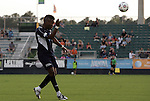 19 May 2012: Carolina's Gale Agbossoumonde. The Carolina RailHawks (NASL) defeated the PSA Elite (USASA) 6-0 at WakeMed Soccer Stadium in Cary, NC in a 2012 Lamar Hunt U.S. Open Cup second round game.