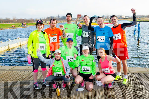 Participants who took part in the Kerry's Eye Valentines Weekend 10 mile road race on Sunday, were front l-r: Grace Healy, Tommy Keane, Liz O'Connor and Anne Kelliher. Back l-r: Karen Dillion, Richard McBride, Gerard Lynch, James Daly, David Butler and Ciaran O'Mahony.