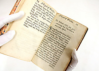 BNPS.co.uk (01202 558833)<br /> Pic: Sworders/BNPS<br /> <br /> A rare 17th century book recounting the harrowing fate that befell two women accused of being witches has sold for over £6,000.<br /> <br /> A Tryal of Witches at the Assizes provides an eye-witness account of the trial of Rose Cullendar and Amy Duny in Bury St Edmunds, Suffolk, in 1664.<br /> <br /> The unfortunate elderly widows were said by their suspicious neighbours to have indulged in witchcraft against their children.