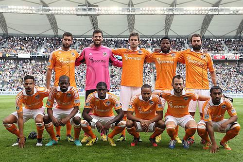 01.12.2012. Home Deport center, Carson, California, USA. Dynamo starters. Front row (l to r): Calen Carr, Boniek Garcia (HON), Kofi Sarkodie, Ricardo Clark, Brad Davis, Corey Ashe. Back row: Will Bruin, Tally Hall, Bobby Boswell, Jermaine Taylor (JAM), Adam Moffat (SCO). The Los Angeles Galaxy played the Houston Dynamo at the Home Depot Center in Carson, California in MLS Cup 2012. Los Angeles won the game 3-1.