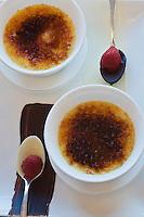 Europe/Turquie/Istanbul : Crème brulée gingembre et chocolat , recette de  Marcel Nosari du restaurant  Centemani de l 'Hôtel Ritz Carlton