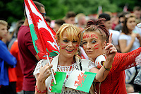 2016 07 06 Football supporters at the Singleton Park fan zone, Swansea, Wales, UK