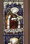 Mary Anne Garrett Memorial stained glass window  female martyrs 1897, Church of Saint Margaret, Leiston, Suffolk, England, UK Saint Apollonia by C.E. Kempe ( 1837-1907)