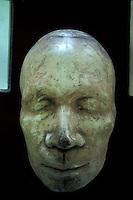 Death mask of Nicaraguan poet Ruben Dario in the National Museum, Managua, Nicaragua. Ruben Dario (1867-1916) is Nicaragua's best known poet.