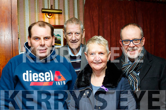 L-R Gareth barry, Mike Leahy, Catherine&Mike Nash at the Mike Denver concert last Friday night in Brosna village