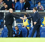Mark Warburton and Tommy Wright at full-time